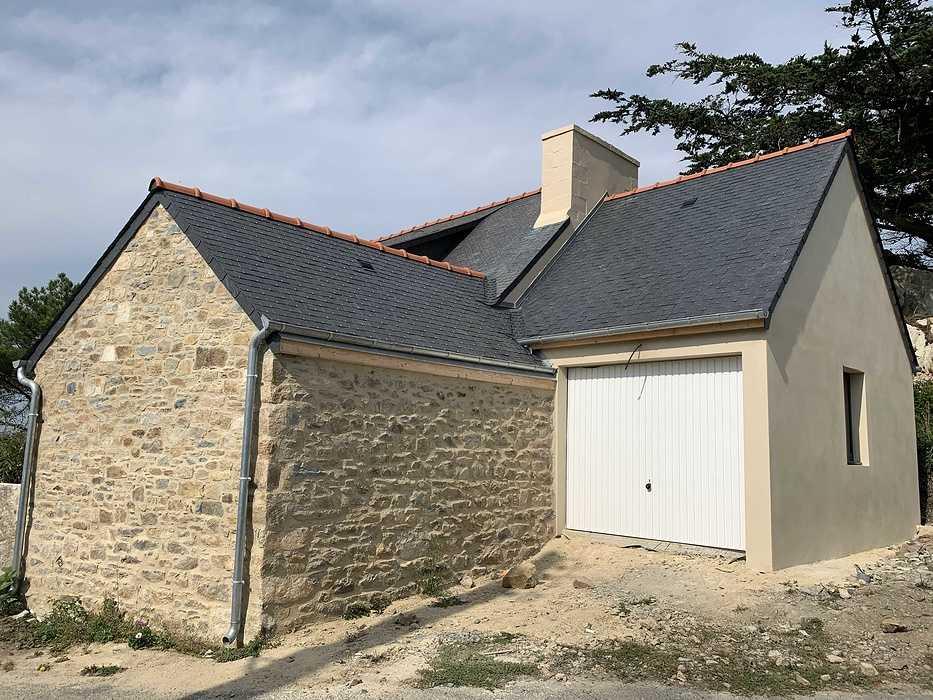 Extension et rénovation - démolition, maçonnerie, charpente- Plougrescant (22) img2250
