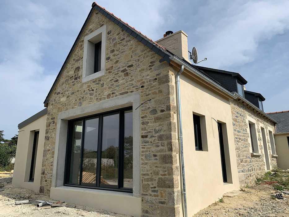 Extension et rénovation - démolition, maçonnerie, charpente- Plougrescant (22) img2251