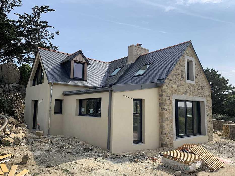 Extension et rénovation - démolition, maçonnerie, charpente- Plougrescant (22) img2252